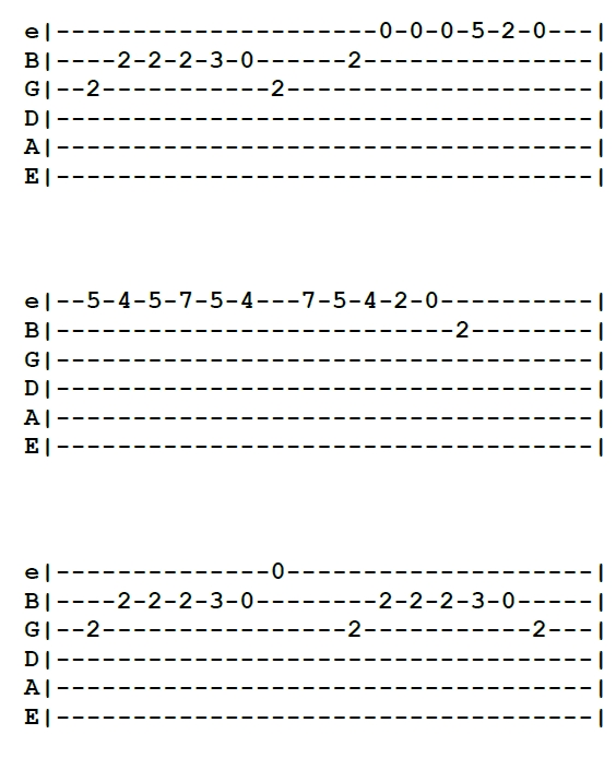 Stary niedźwiedź mocno śpi - tabulatura na gitarę melodii piosenki popularnej