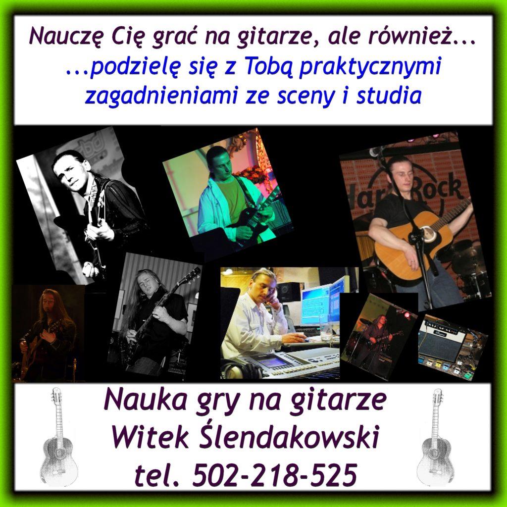 Nauczę Cię grać na gitarze, ale również podzielę się z Tobą praktycznymi zagadnieniami ze sceny i studia